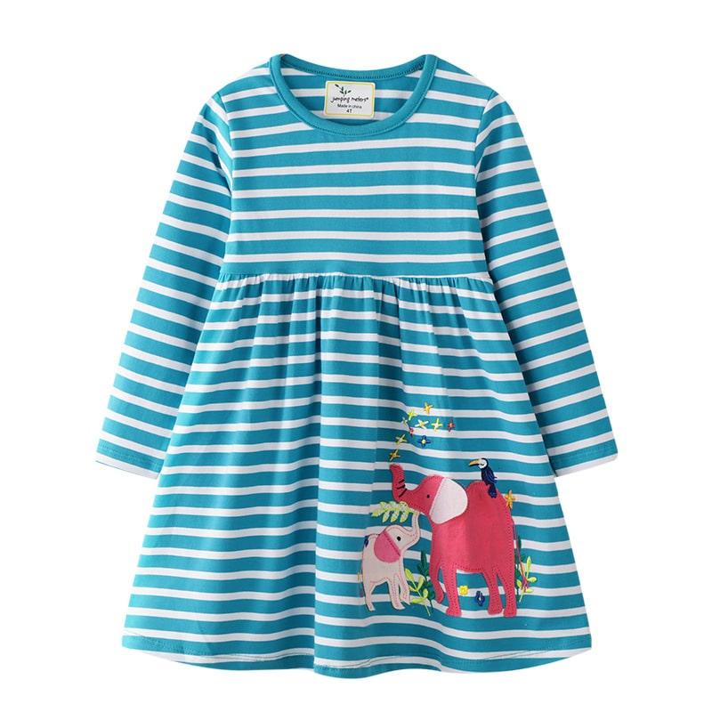 Платье для девочки Слоники