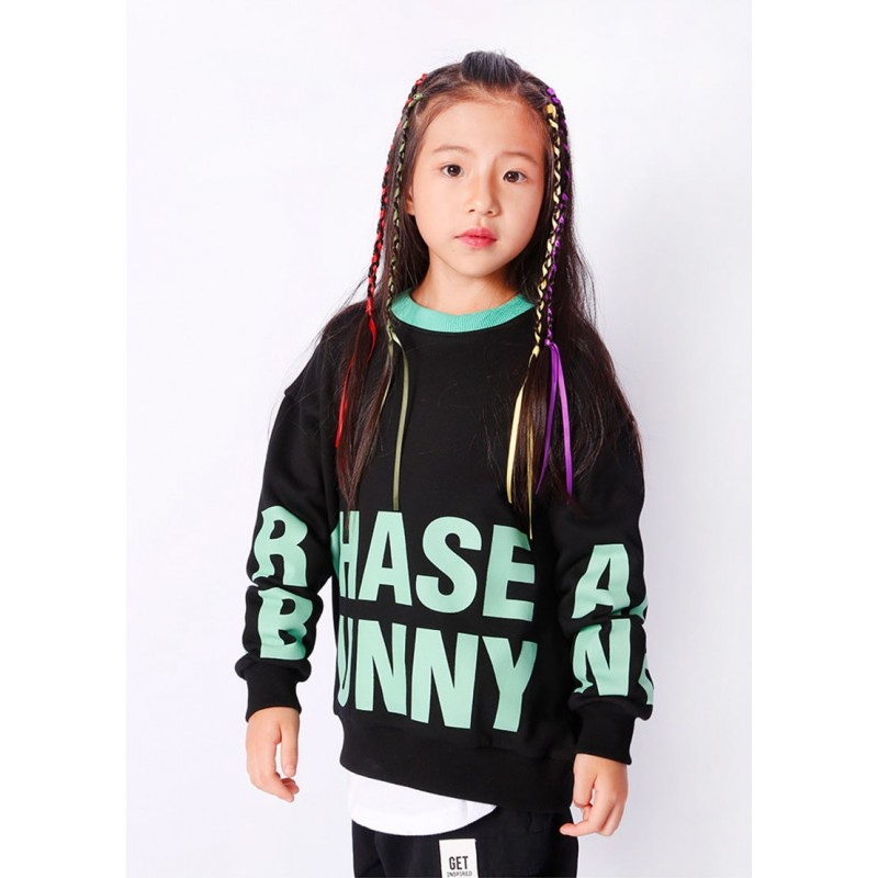 Свитшот детский Chase bunny, черный