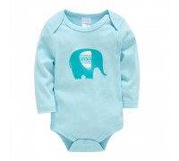 Боди детский Слон, голубой