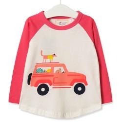 Кофта для девочки Зверушки на машине