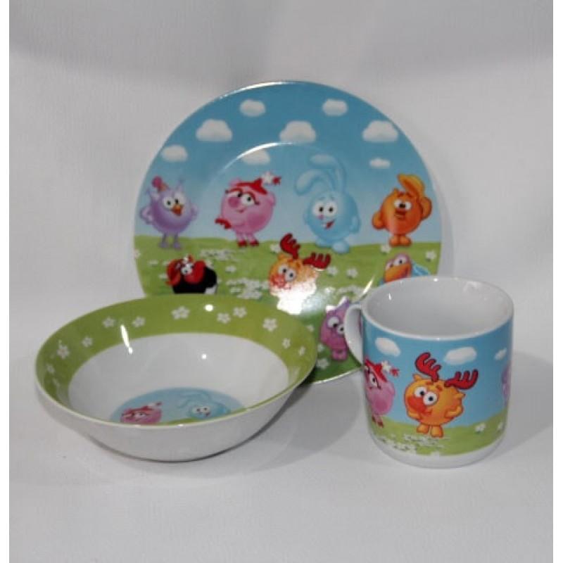 картинка Набор детской посуды Смешарики