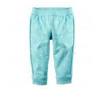 Штаны для девочки Горошек, голубой