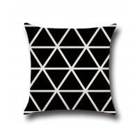 Наволочка декоративная Black triangle 45 х 45 см