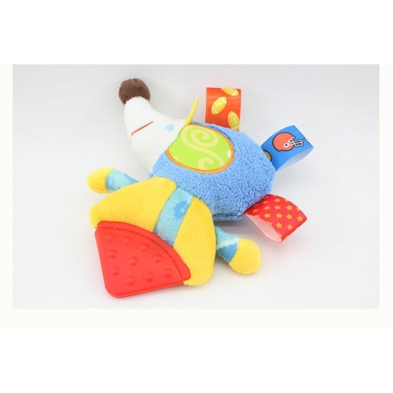 Мягкая игрушка - прорезыватель Голубой ёжик