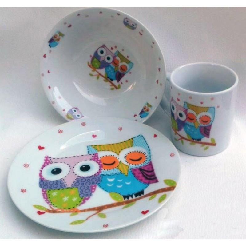 картинка Набор детской посуды OWLS