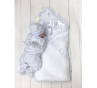 Крыжма+Комбинезон Brilliant Baby Бантик+Angel (серебро)