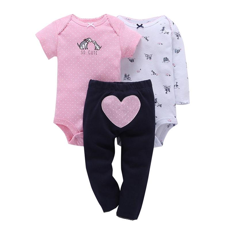 фото Боди и штанишки для девочки сердце