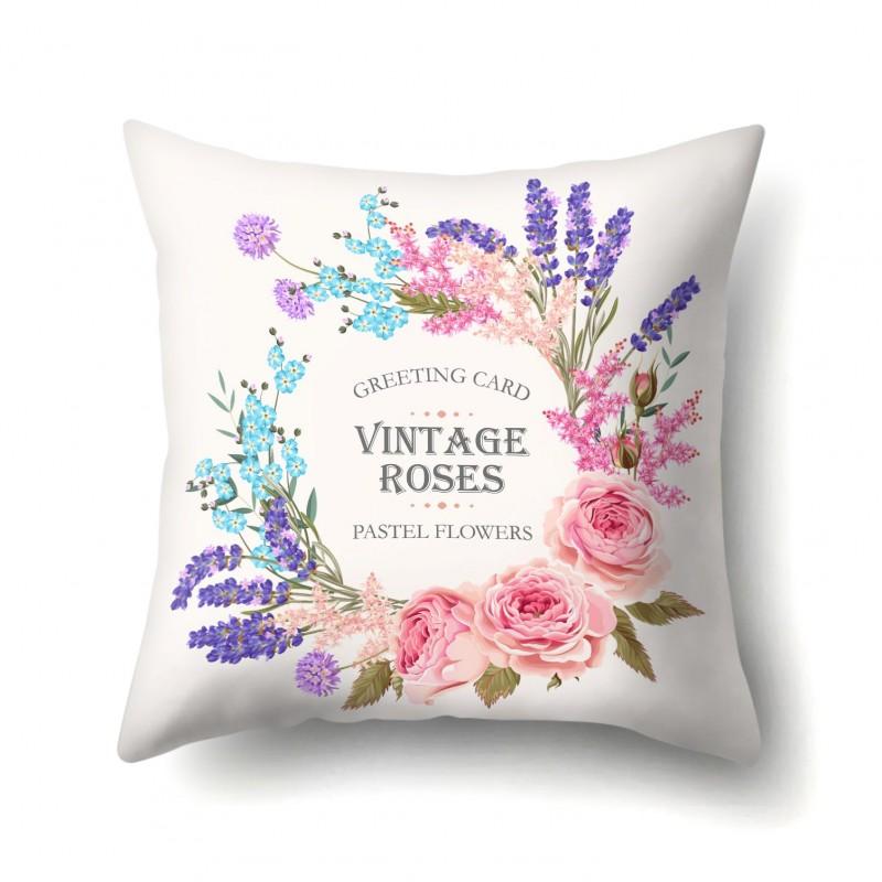 Подушка декоративная Пастельные цветы