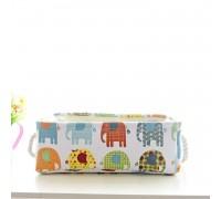 Корзина для игрушек, белья, хранения Слоны