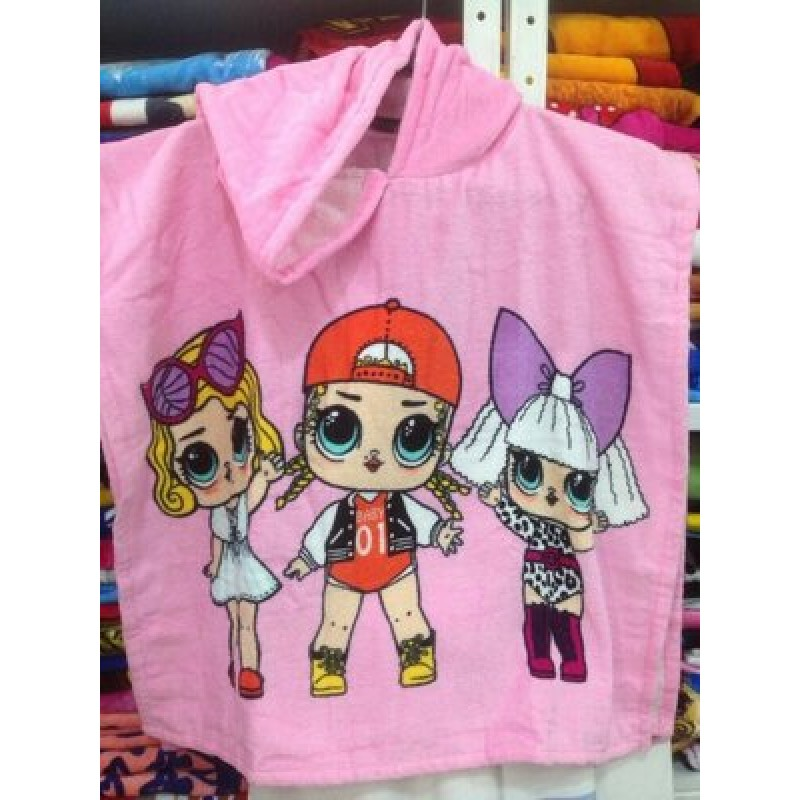 фото детское полотенце пончо для девочки LOL