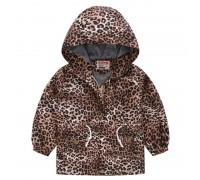 Куртка-ветровка для девочки с леопардовым рисунком