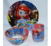 Набор детской посуды Принцесса SОFIA Интерос 3 предмета