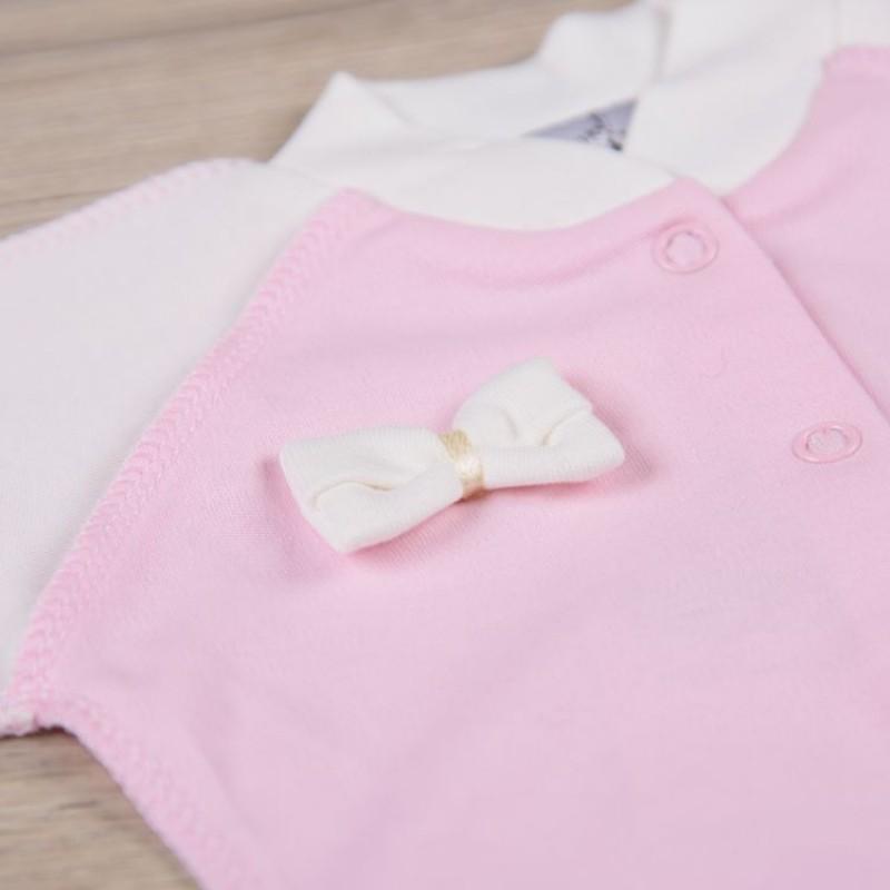 Боди розовый Интерлок фото