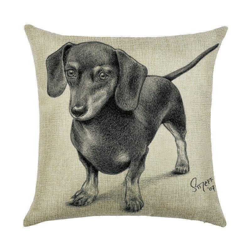Наволочка декоративная Black dachshund