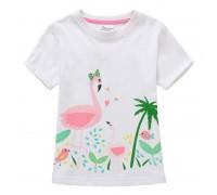 Футболка для девочки Розовый фламинго