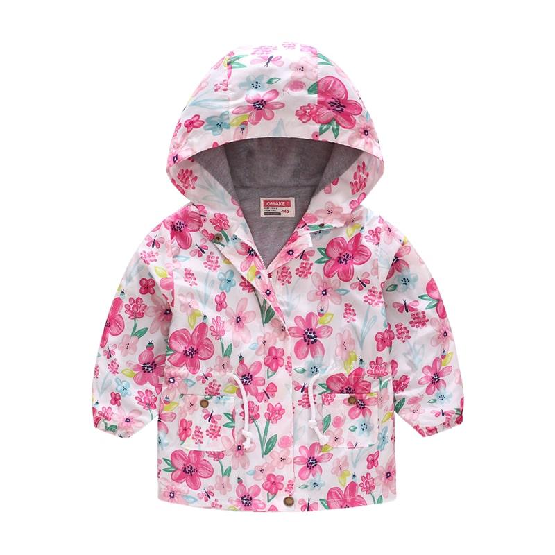 Куртка-ветровка для девочки Цветочки