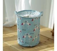Корзина для игрушек, белья, хранения на завязках Фламинго