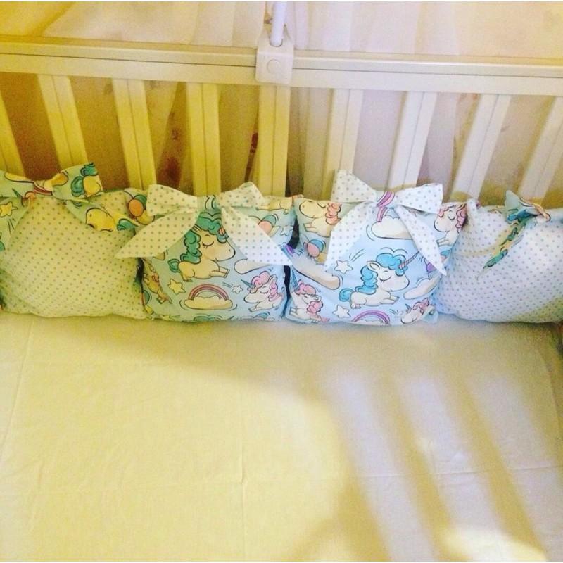 фото Бортики подушки единорожки