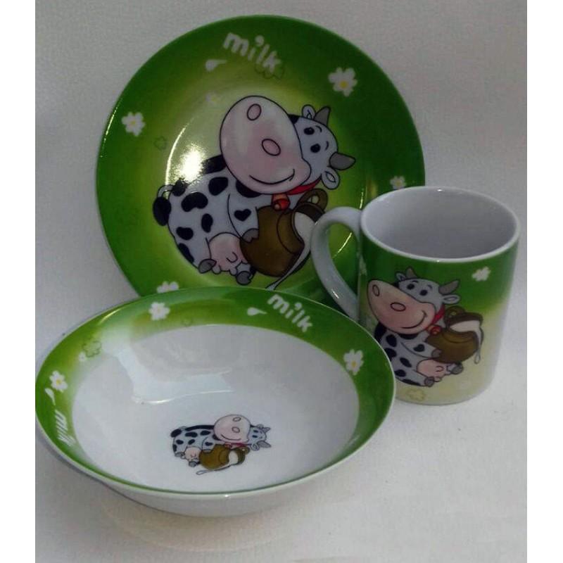 картинка Набор детской посуды Коровка
