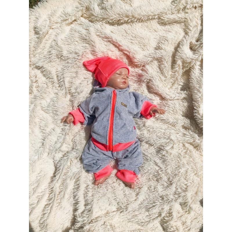 Велюровый костюм новорожденным фото