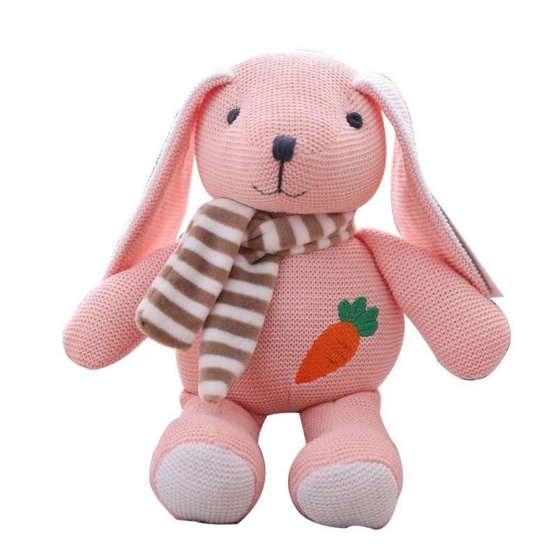 Мягкая игрушка Вязаный зайчик, 25см