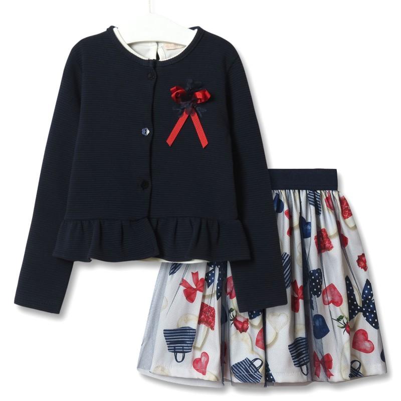 Комплект для девочки 3 в 1 Модница фото