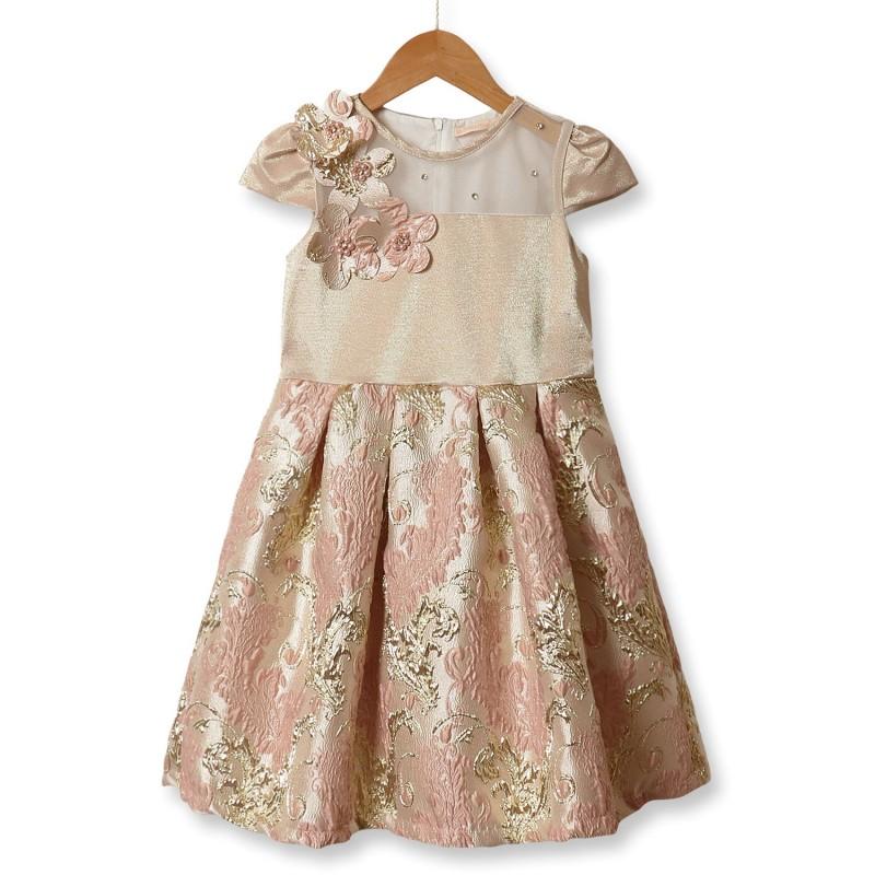 Платье для девочки Рококо, розовый
