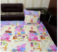 Комплект постельного белья PEPPA FAMILY