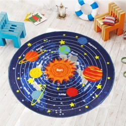 Коврик для детской комнаты Звездная система 100 х 100 см