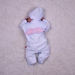 фото Нарядный комбинезон с крыльями розовый