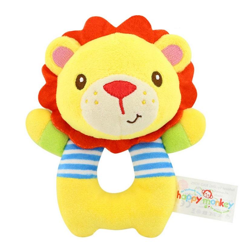 Мягкая игрушка - погремушка Лев