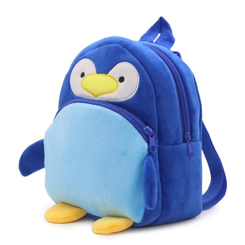 Рюкзак велюровый Пингвин