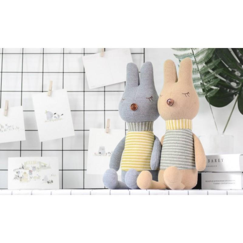 Мягкая игрушка Кролик в полоску, 42 см