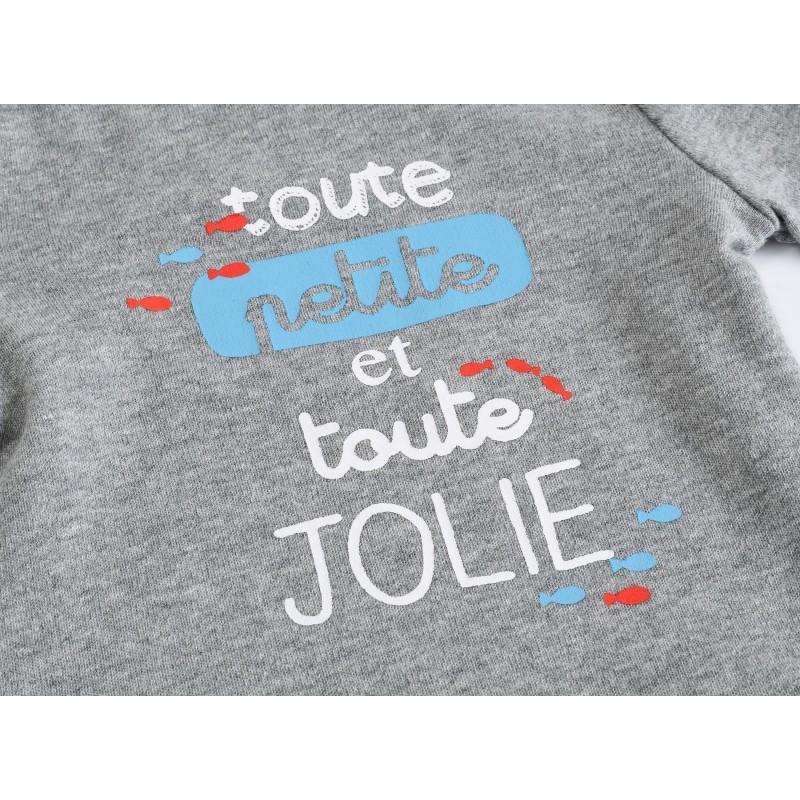 Боди детский Джоли, серый