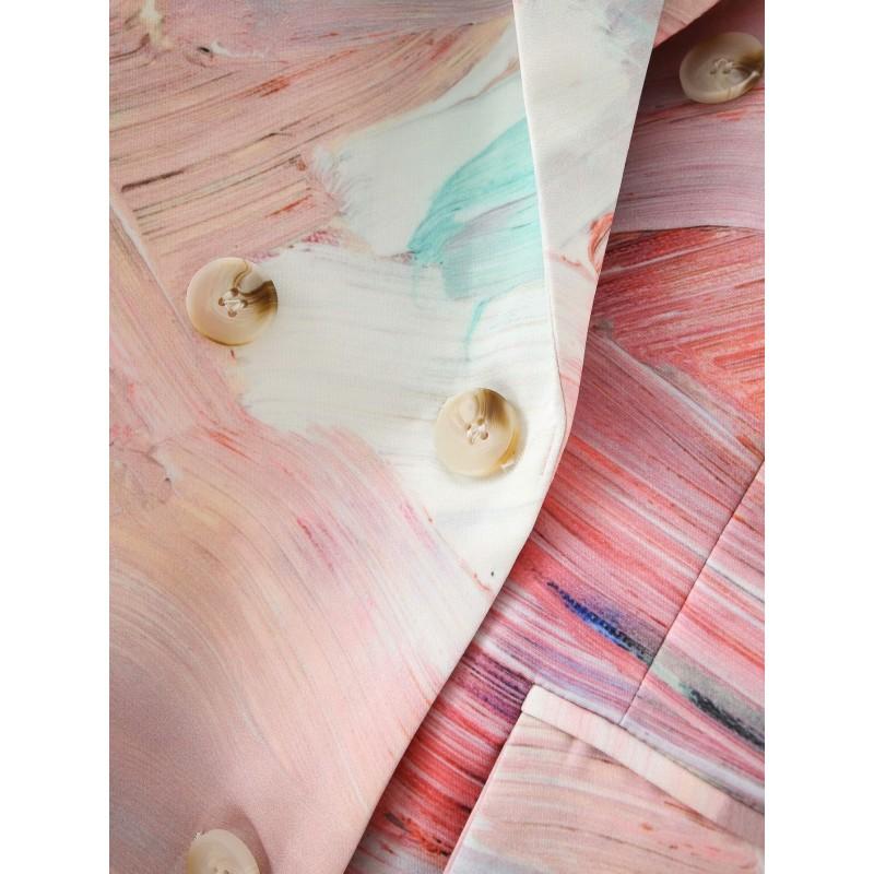 Блейзер женский с абстрактным принтом Paints
