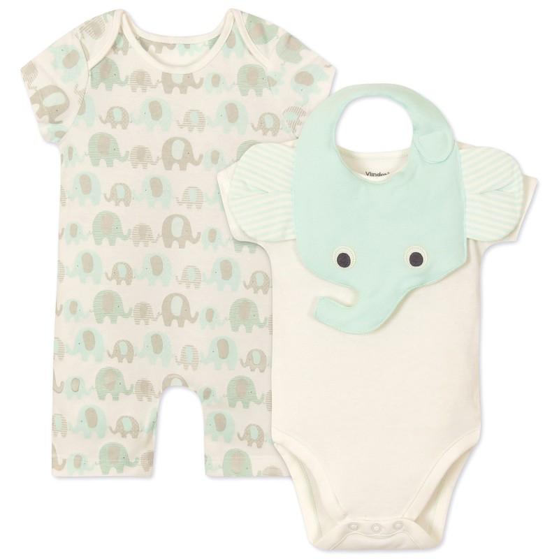 Комплект 3 в 1 Слоник новорожденному