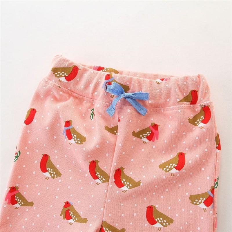 Штаны для девочки Снегири