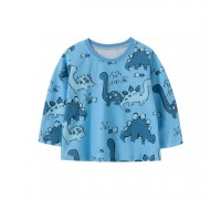 Лонгслив детский Blue dinosaurs