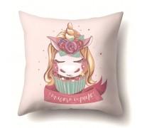 Наволочка декоративная Unicorn cupcake 45 х 45 см