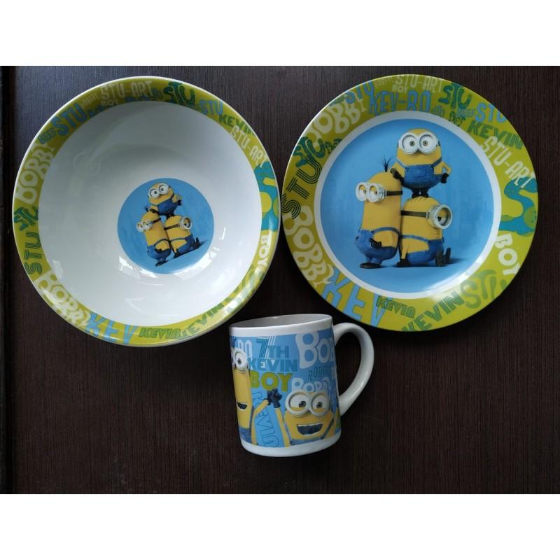 фото Детская посуда фарфор Миньйон