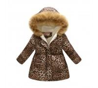 Демисезонная куртка для девочки Леопардовый принт