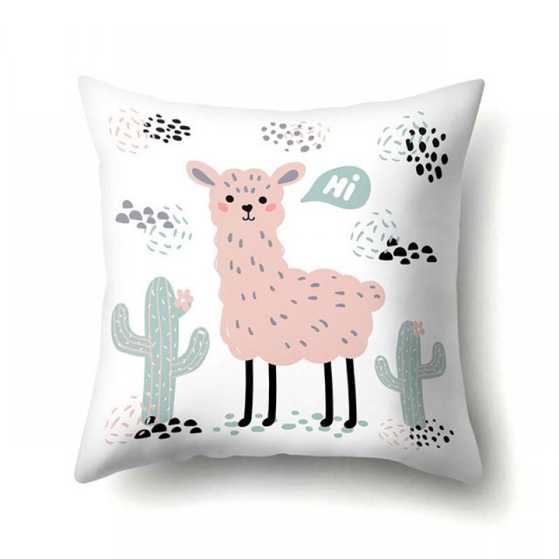 Наволочка декоративная Pink llama