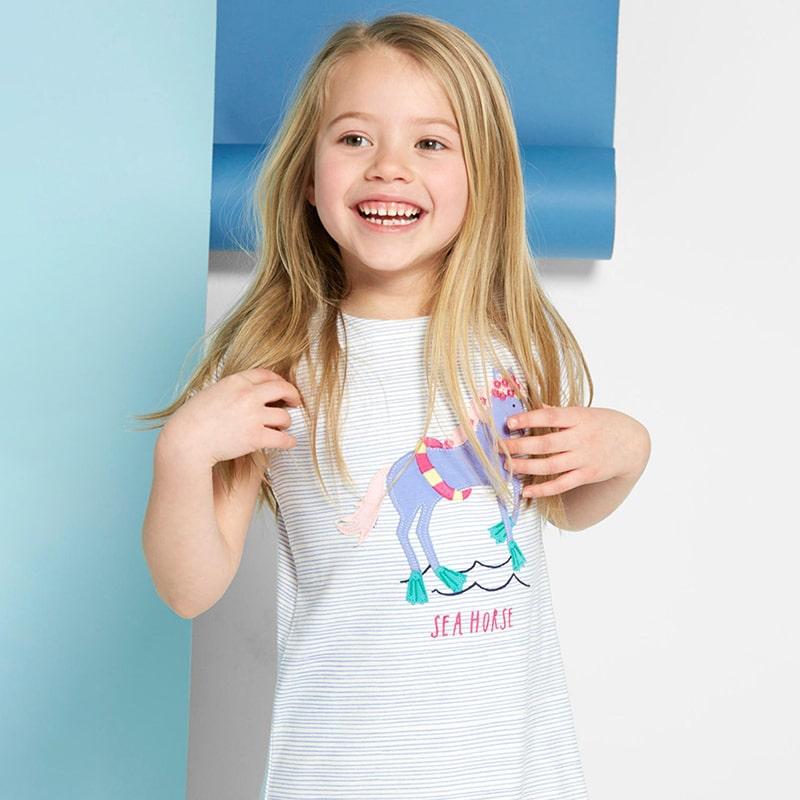 Платье для девочки Лошадка в веночке