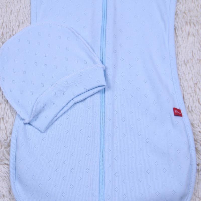 Кокон пеленка для новорожденных голубой