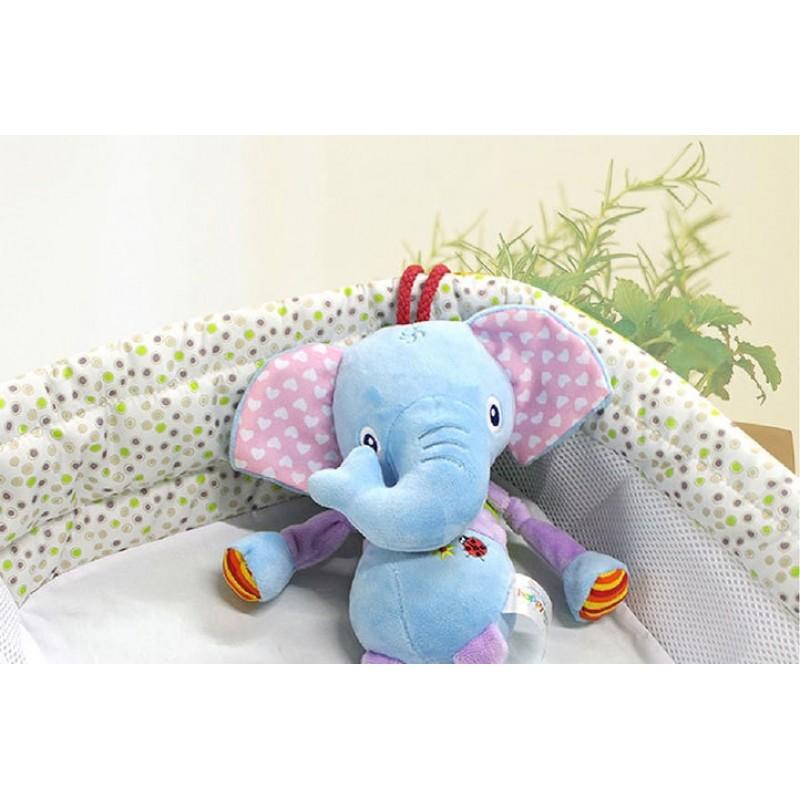 Мягкая музыкальная подвеска Слон