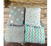 Бортики подушки зигзаг