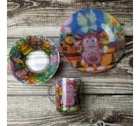 Набор детской посуды Лунтик Интерос 3 предмета