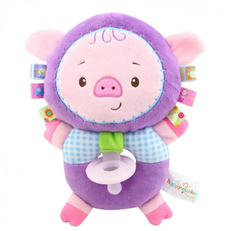 Мягкая игрушка-соска Розовый поросёнок
