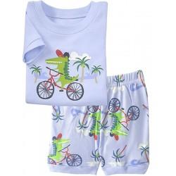 Пижама для мальчика Крокодил на велосипеде