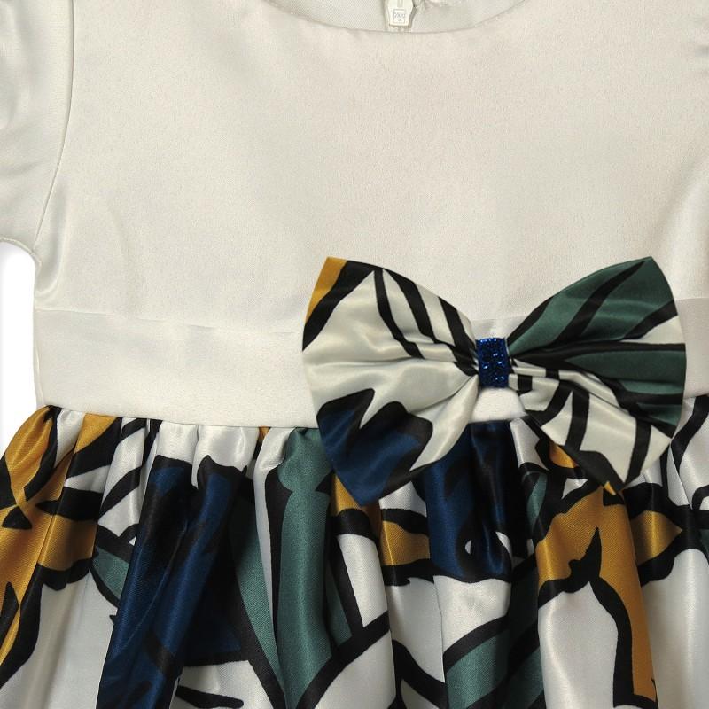 Платье для девочки Листочек, зеленый